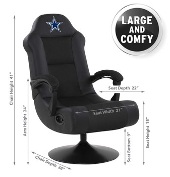Dallas Cowboys Gaming Chair With built-in Bluetooth