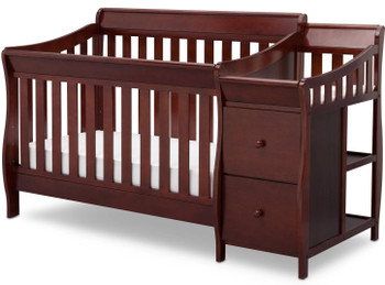 Reece Black Cherry Crib N Changer
