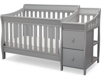 Reece Gray Crib N Changer