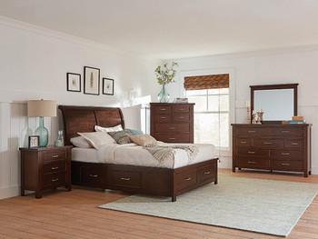 Impurest Brown Platform Storage Bed