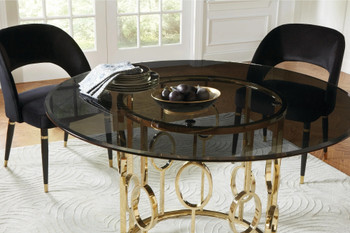 Serilda Black & Gold 5 Piece Dining Set