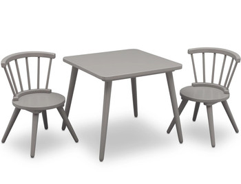 Mindi Gray Table & Chair Set