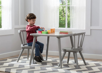 Mindi Gray Table & Chair Set