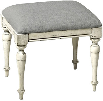 "Newhaven White 20"" Wide Stool"