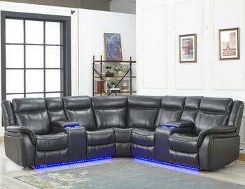 Maxton Gray Power Reclining Sectional
