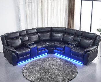 Maxton Black Power Reclining Sectional