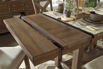 """Alpine 86"""" Wide Counter Height Table with Extensions"""