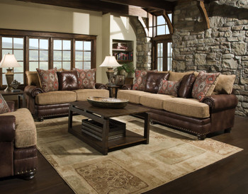 Clarksville Brown Livingroom Set