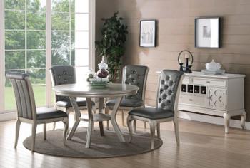 Venice 5-PC Silver Dining Set