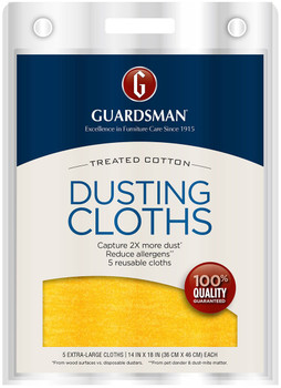 Treated Cotton Dusting Cloth, 5 count