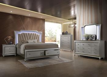 Marvilla Silver LED Storage Bedroom
