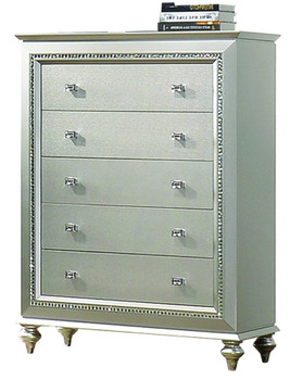 Marvilla Silver 5 Drawer Chest