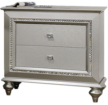 Marvilla Silver 2 Drawer Nightstand