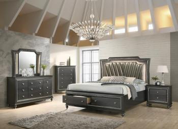 Marvilla Gray LED Dresser & Mirror