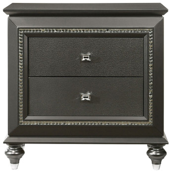 Marvilla Gray 2 Drawer Nightstand