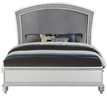 Precious Platinum Rhinestones Bedroom Set