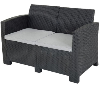 Jerdico Gray 4 Piece Loveseat Patio Set