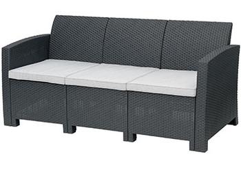 """Jerdico Gray 68"""" Wide Sofa"""