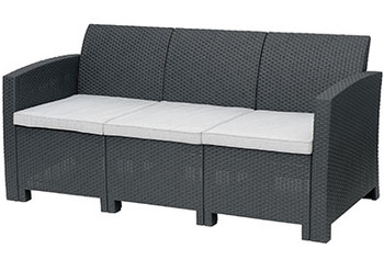 Jerdico Gray 3 Piece Sofa Patio Set