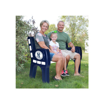 "NY Yankees 48"" Wide Park Bench"
