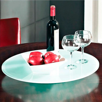 "Irvine 22"" Wide Frosted Lazy Susan"