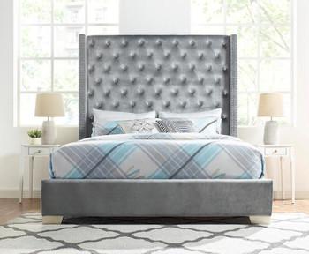 Larisa Gray Fabric Bed