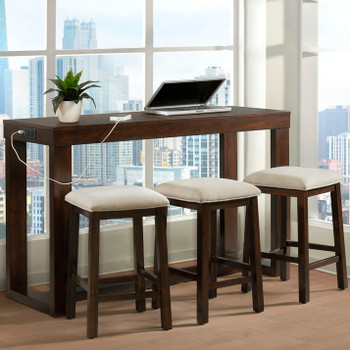 Wyatt 4 Piece Dining Set with USB Connection