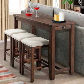 Braston 4 Piece Dining Set with USB Connection