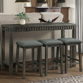 Kresley 4 Piece Dining Set with USB Connection