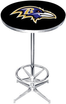 "Baltimore Ravens 27"" Wide Bar Table"