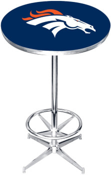 "Denver Broncos 27"" Wide Bar Table"
