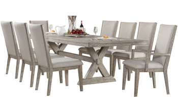 Brisbane Gray Dining Table with Removable Leaf
