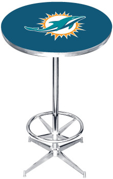 "Miami Dolphins 27"" Wide Bar Table"