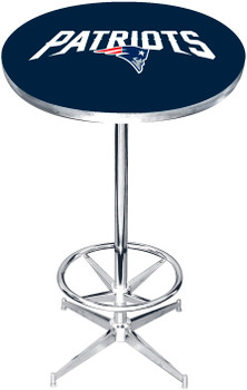 "New England Patriots 27"" Wide Bar Table"