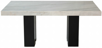"NUBIA 70"" Wide Marble Counter Height Table"