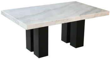 Valery Rectangular Counter Height Marble Table