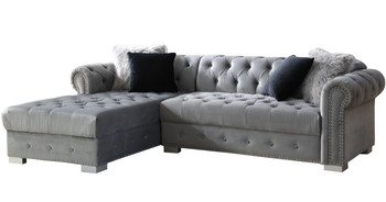 "BLAIR Grey 98"" Wide Sectional"