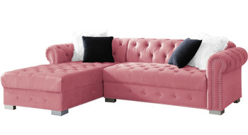 "BLAIR Pink 98"" Wide Sectional"