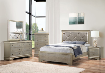 ESTELLER Silver Bedroom Set