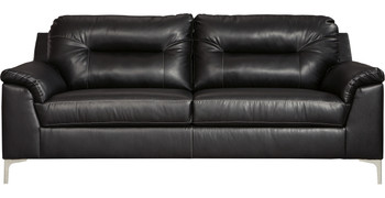 "Naya Black 89"" Wide Sofa"