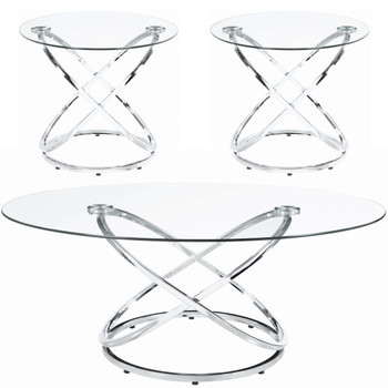Geros 3 Piece Table Set