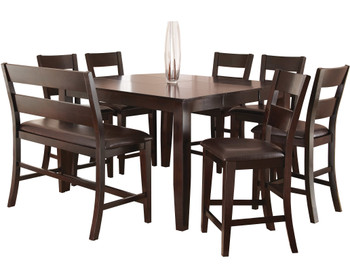 Kurt Dark Brown 8 Piece Counter Height Set