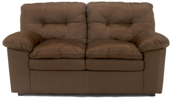 "GRANT Chocolate 67"" Wide Loveseat"