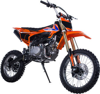 Derby Orange 140cc Dirt Bike