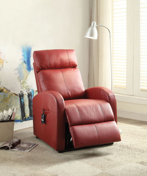 "Ruku Red 28"" Wide Recliner with Power Lift"