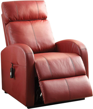 """Ruku Red 28"""" Wide Recliner with Power Lift"""
