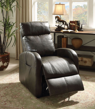 "Ruku Gray 28"" Wide Recliner with Power Lift"