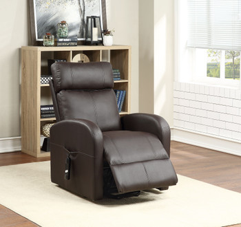 "Ruku Brown 28"" Wide Recliner with Power Lift"