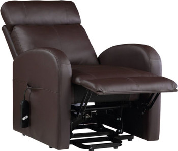 """RUKU Brown 28"""" Wide Recliner with Power Lift"""