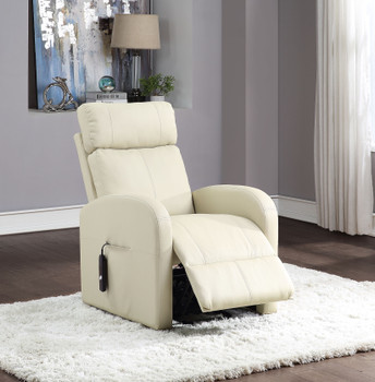 "Ruku Beige 28"" Wide Recliner with Power Lift"